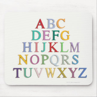 learning, letters, alphabet mouse pad