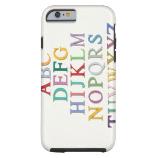 learning, letters, alphabet tough iPhone 6 case