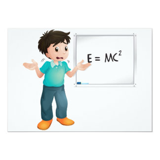 "Learning Maths Invitations 5"" X 7"" Invitation Card"