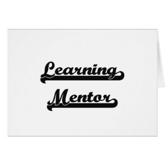 Learning Mentor Classic Job Design Stationery Note Card