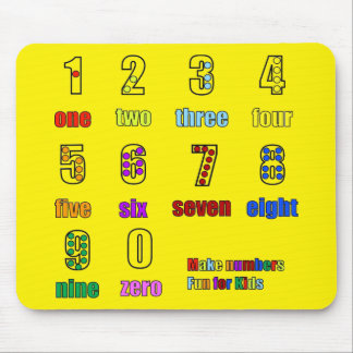 LEARNING NUMBERS FUNTIME MOUSE PAD
