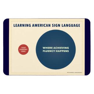 Learning Sign Language. ASL venn diagram. Magnet