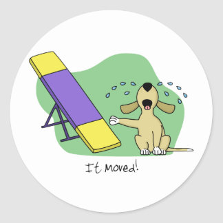Learning the Teeter Agility Classic Round Sticker