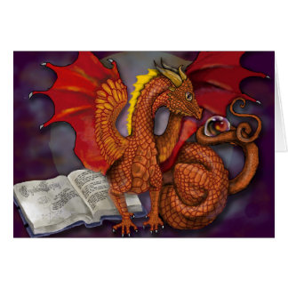 Learning the Ways~ dragon greeting card