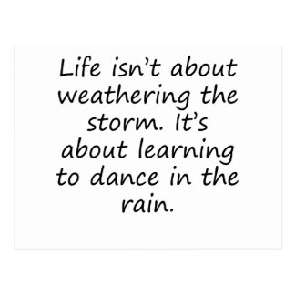 Learning To Dance In The Rain Postcard