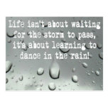 Learning to dance in the rain! Raindrops Photo Postcard