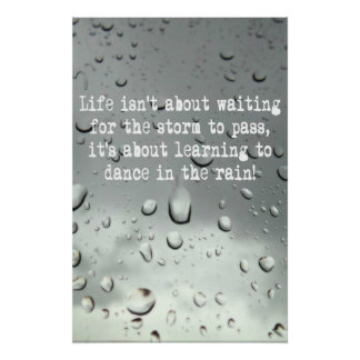 Learning to dance in the rain! Raindrops Photo Posters