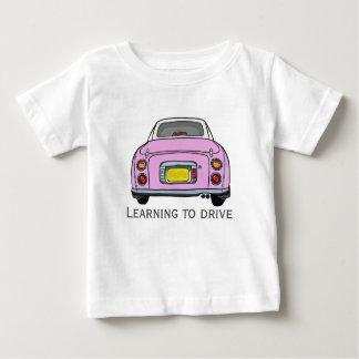 Learning to Drive Custom Baby T-Shirt, Pink Car Shirt