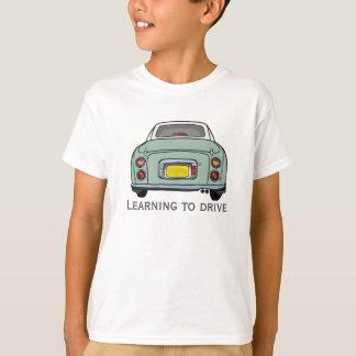 Learning to Drive Custom Kids T-Shirt, Green Car T-Shirt