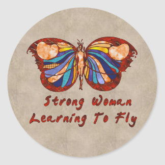 Learning To Fly Classic Round Sticker