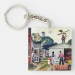 Learning to Fly Double-Sided Square Acrylic Keychain
