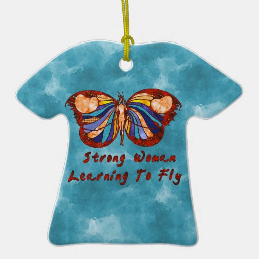 Learning To Fly Double-Sided T-Shirt Ceramic Christmas Ornament