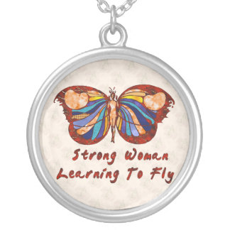 Learning To Fly Silver Plated Necklace