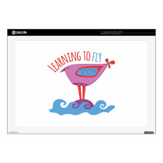 """Learning to Fly 17"""" Laptop Decal"""