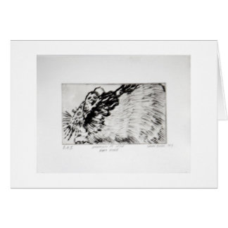Learning to Love Rats More Copper Plate Print Greeting Card