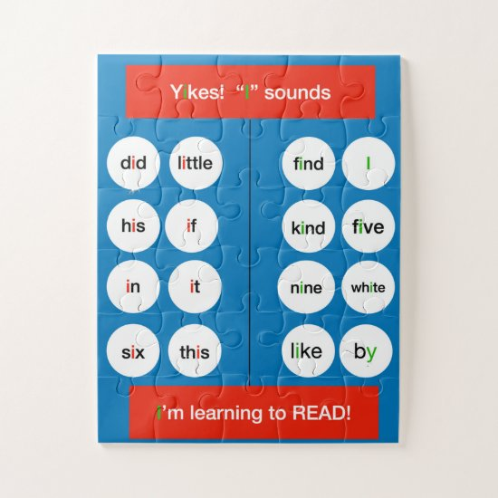 """Learning to Read Series, Sounds of """"I"""" Jigsaw Puzzle"""