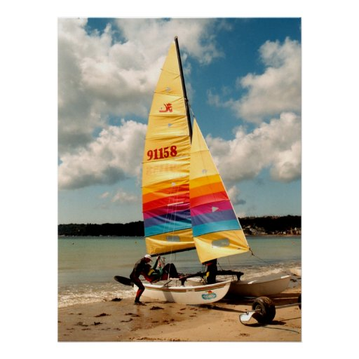 Learning to sail a Hobie catamaran Poster