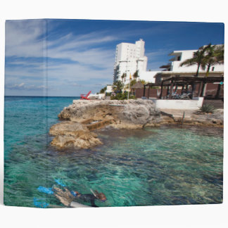 Learning To Scuba Dive, Cozumel Mexico 3 Ring Binder