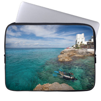 Learning To Scuba Dive, Cozumel Mexico Laptop Sleeve