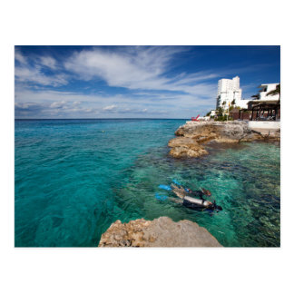 Learning To Scuba Dive, Cozumel Mexico Postcard