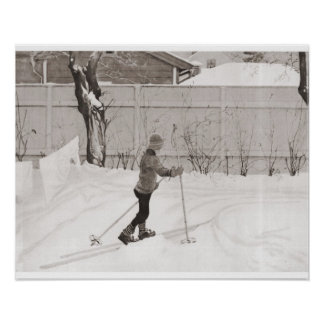 Learning to ski print