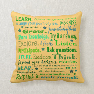 learning words art pillow