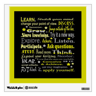 learning words collage wall decal