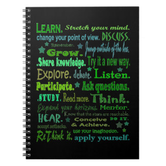 learning words notebook