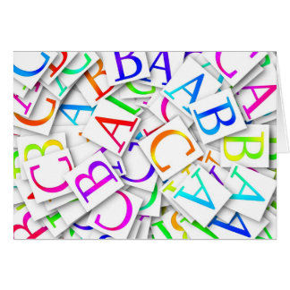 Learning Your ABCs Card