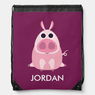 Leary the Pig Drawstring Bag