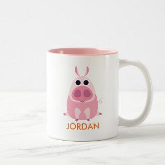Leary the Pig Two-Tone Coffee Mug
