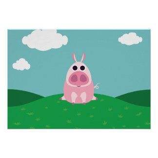 Leary the Pig Poster