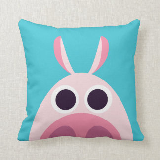 Leary the Pig Throw Pillow