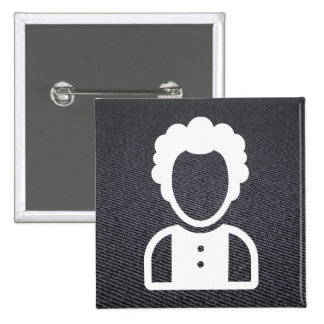 Leased Employees Symbol 2 Inch Square Button