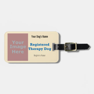 Leash Tag - Therapy Dog Luggage Tag