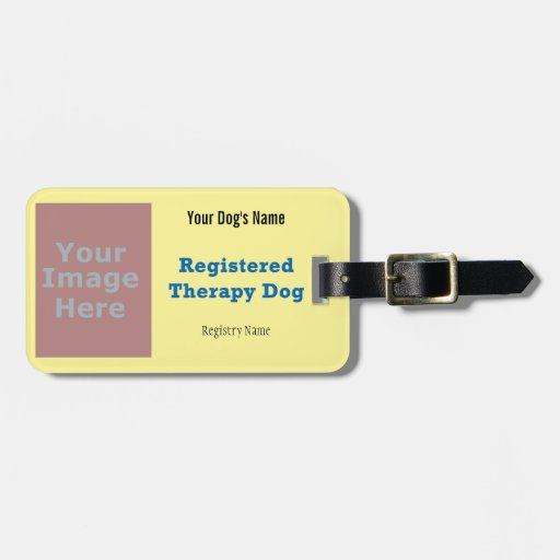 Leash Tag - Therapy Dog Tag For Bags