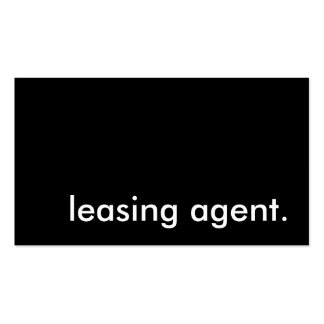 leasing agent. business card