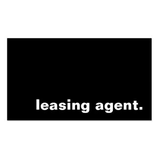 leasing agent business card