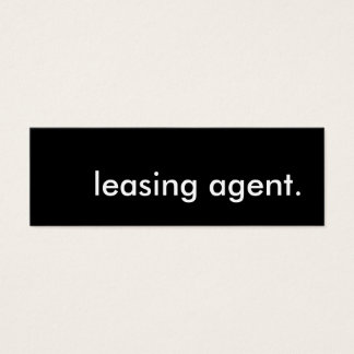 leasing agent. mini business card