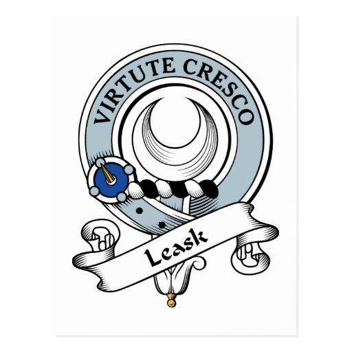 Leask Clan Badge Postcard