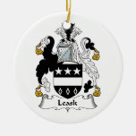 Leask Family Crest Christmas Tree Ornaments