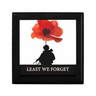 LEAST WE FORGET AFGHANISTAN TROOPER JEWELRY BOX