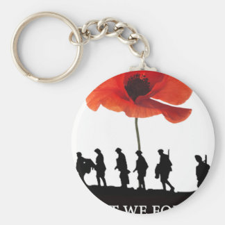 LEAST WE FORGET SOLDIERS MARCHING KEYCHAIN
