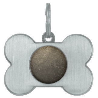 Leather 3 pet tag