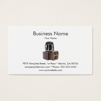 Leather Accessories Business Card Template