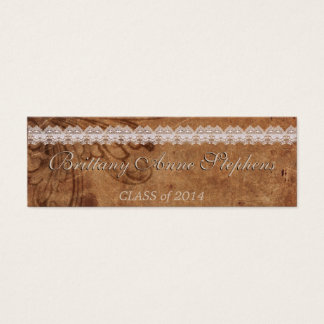 Leather and Lace Graduation Name Card Insert