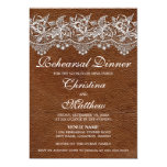 Leather and Lace Look Rehearsal Dinner Custom Announcement