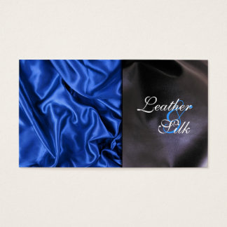 Leather and Silk Effect Business Card