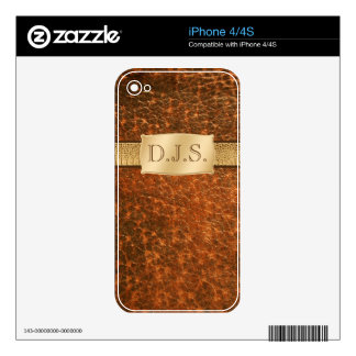 Leather and Snakeskin LOOK iPhone 4/4s Skin Decal For The iPhone 4S