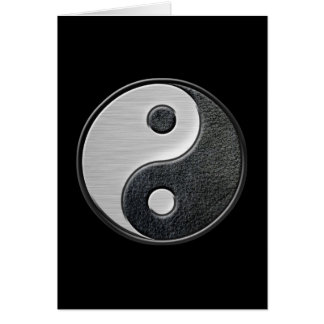 Leather and Steel Effect Yin Yang Graphic Card